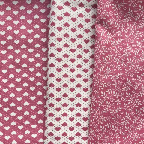 Pink Fabric Selection